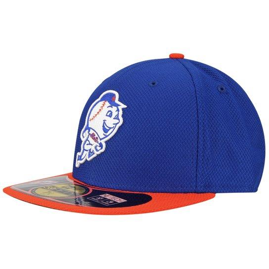 e5bceb52b8d72 Boné New Era 5950 MLB BP Diamond New York Mets Team Color - Azul+Laranja