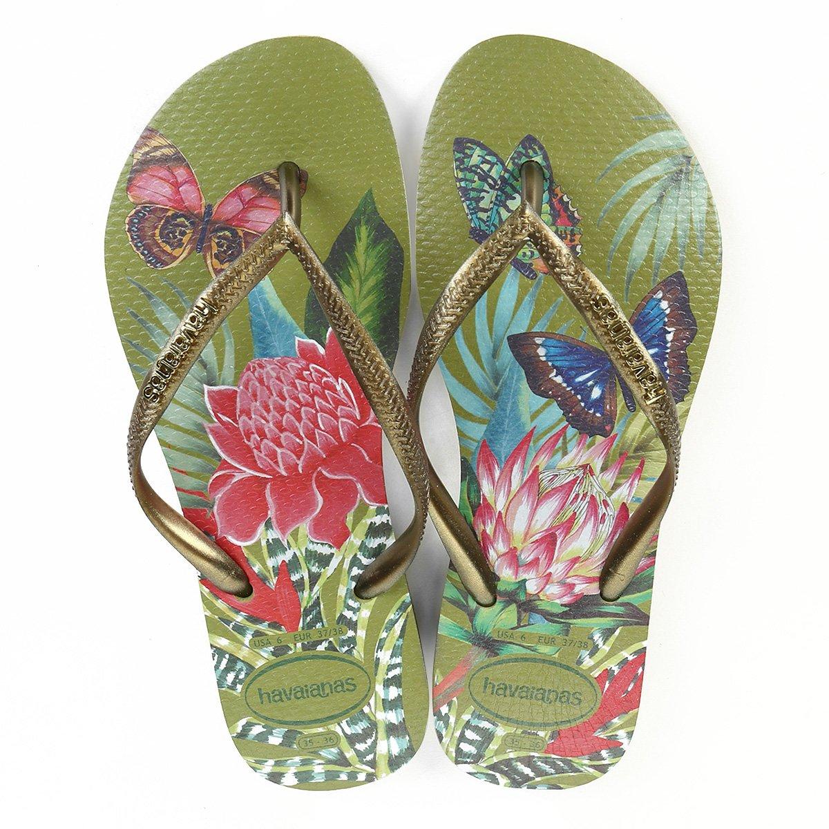 Sandália Havaianas Slim Tropical Feminina