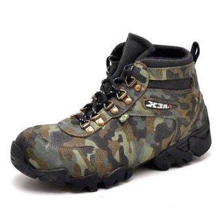 3ffb334b4 Bota Coturno Adventure Top Franca Shoes Camuflado