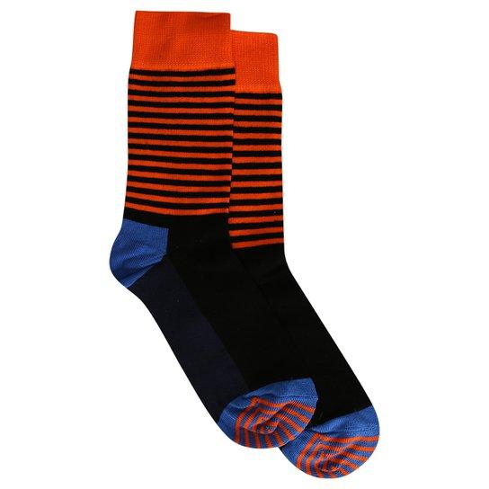 e1d40d9e6 Meia Happy Socks Half Stripe Sock - Compre Agora