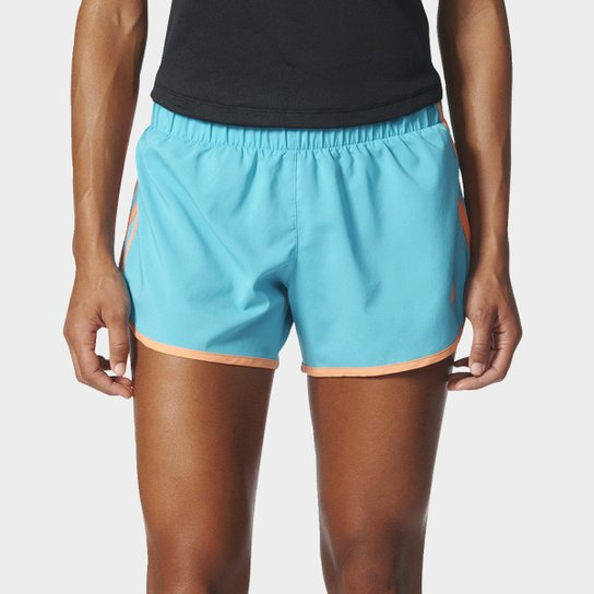 79f31d571 Short Adidas M10 Feminino - Azul e Laranja | Netshoes