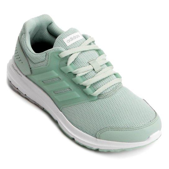 Tênis Adidas Galaxy 4 Feminino - Verde e Prata - Compre Agora  886251931a291
