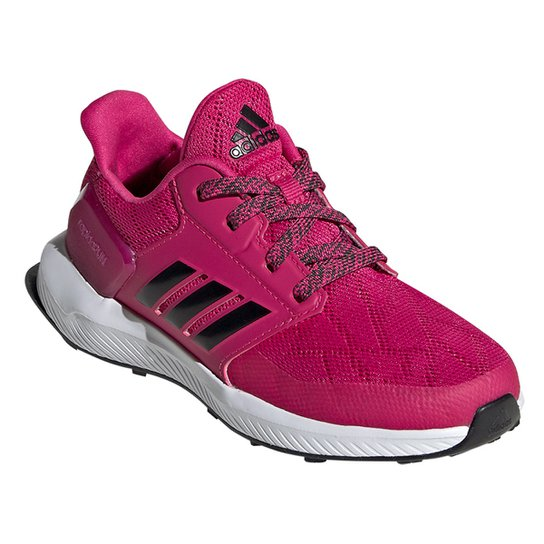 3fa7f8320f Tênis Infantil Adidas Rapidarun Feminino - Pink e Preto - Compre ...