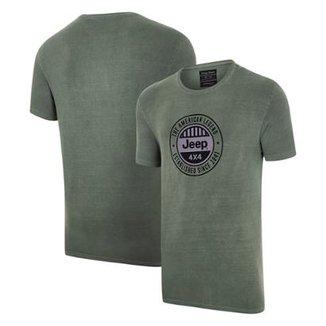 Camiseta JEEP Round Estonada Masculina 0e6ebea69fc99