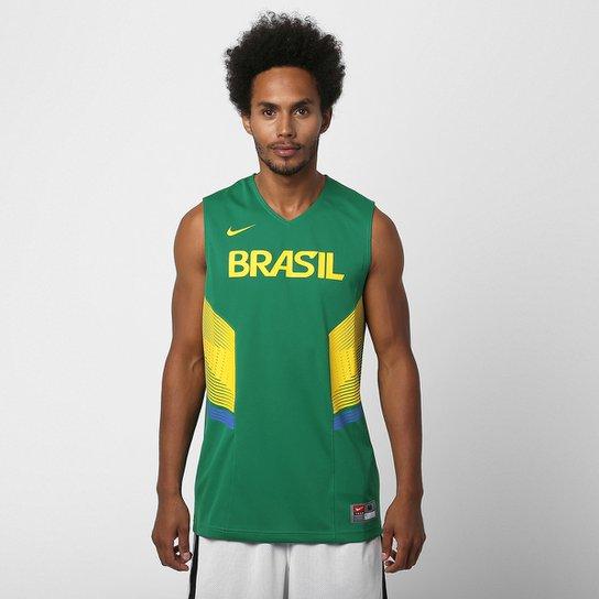 Camiseta Regata Nike Seleção Brasil Basquete - Compre Agora  dd4f3b2255b04