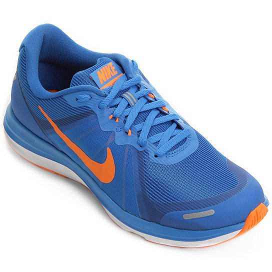 dd97837b09d Tênis Nike Dual Fusion X 2 Masculino - Azul Royal+Laranja