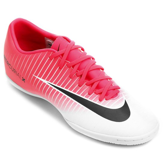 d7a14942cd Chuteira Futsal Nike Mercurial Victory 6 IC - Pink e Preto - Compre ...