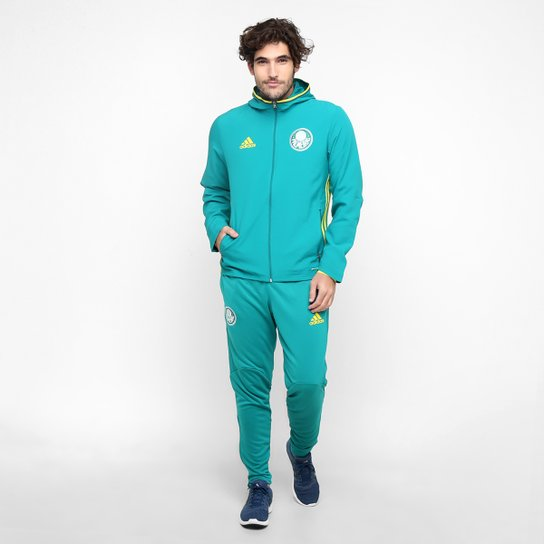 Agasalho Adidas Palmeiras Viagem - Verde Água+Amarelo aaf640e9644f6