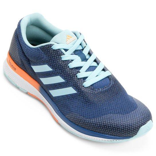 b6fc5ab84ef4c Tênis Adidas Mana Bounce 2 Feminino - Azul Claro e Laranja - Compre ...
