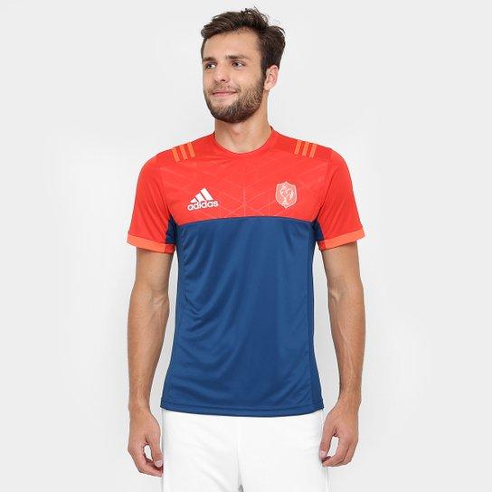 28b087425939c Camiseta Adidas Rugby FFR Performance - Azul Petróleo+Laranja