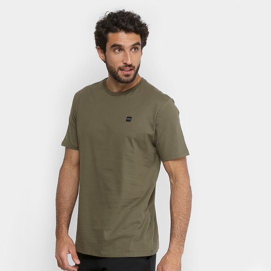 c106a25ed8 Camiseta Oakley Manga Curta Masculina - Verde Militar