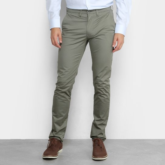 Calça Skinny Lacoste Sarja Masculina - Compre Agora   Netshoes b7ab41e252