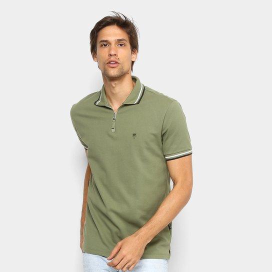 Camisa Polo Cavalera com Zíper Masculina - Verde Militar - Compre ... c8f2fd009b5a3