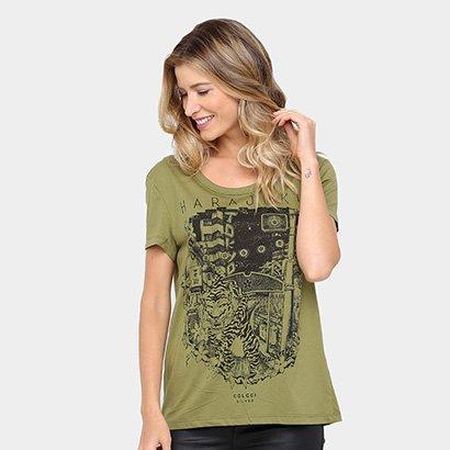 Camiseta Colcci Tigre Feminina