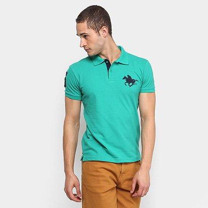 Camisa Polo RG 518 Lisa Gola Quadriculada Logo Metalizada ... c09b0f36907f1