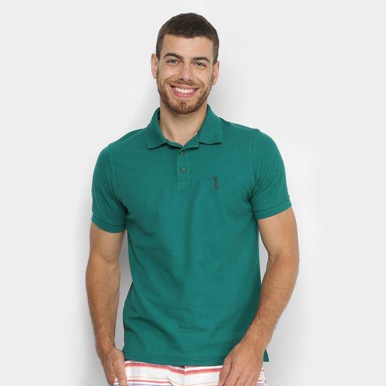 Camisa Polo Aleatory Piquet Color Logo Masculina - Verde Militar ... 3ef36926e23ec
