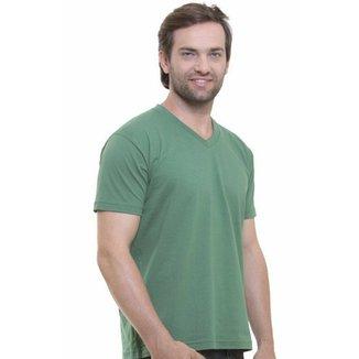 Camiseta Decote V Masculina 74e65d7f66080