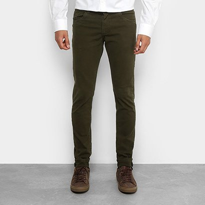 Calça Sarja Slim Coffee Color Masculina