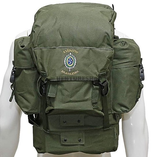 9d7e5fadc Mochila Pqdt Com Brasão Do Exército Treme Terra - - Verde Militar