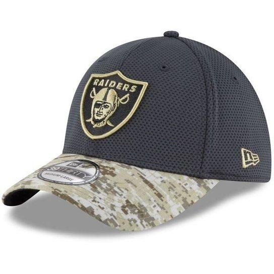 e4e19045b Bone New Era Oakland Raiders Salute To Service STS Militar 3930 - Verde  Militar