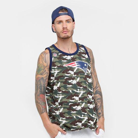 Camiseta Regata NFL New England Patriots New Era Camu Team Masculina -  Verde Militar e9ba25431f1