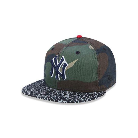 8d4b62e762 Bone 5950 New York Yankees MLB Aba Reta Militar New Era - Verde Militar