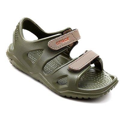 Papete Infantil Crocs Velcro Swiftwater River