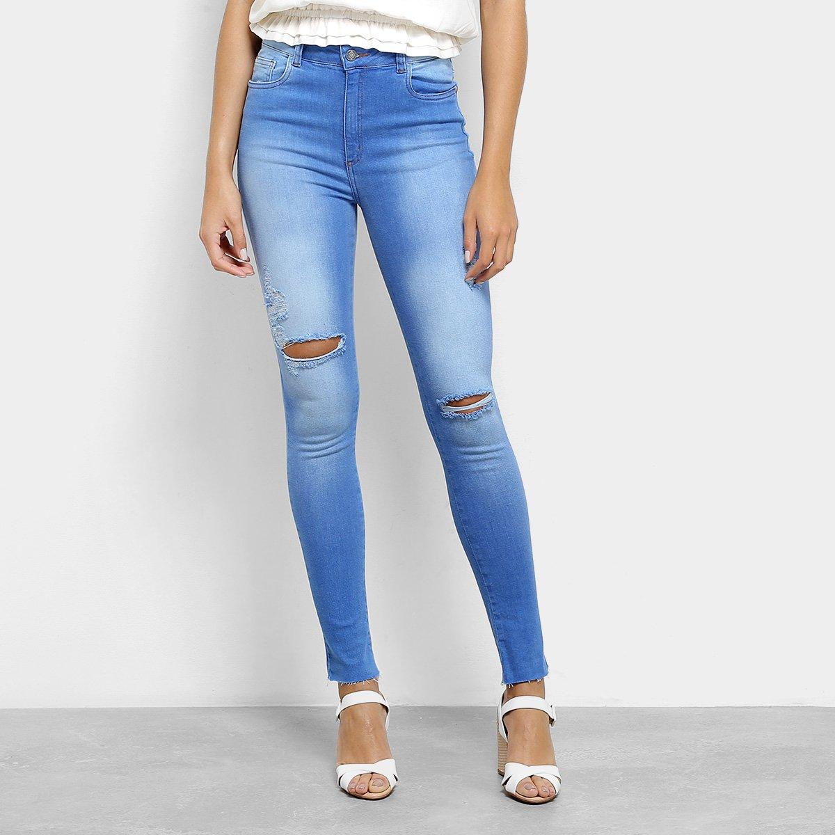 8fe7260d1 Calça Jeans Skinny Handbook Destroyed Feminina