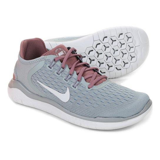 Tênis Nike Free Rn 2018 Feminino - Verde e Prata - Compre Agora ... f73f109f4dc0a