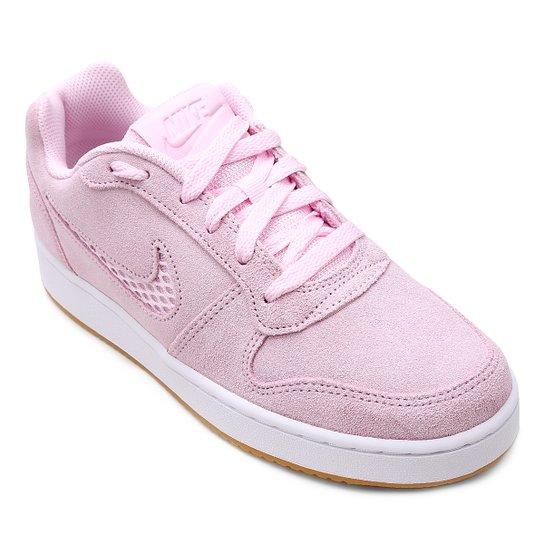cd85f40081d Tênis Nike Wmns Ebernon Low Prem Feminino - Rosa - Compre Agora ...