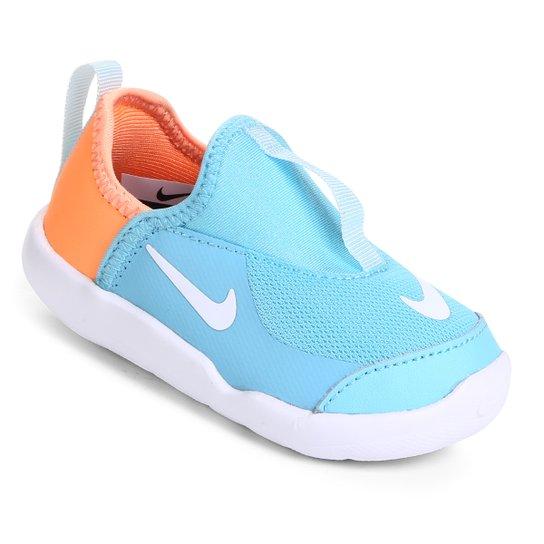 14a57de9d0e6e Tênis Infantil Nike Lil' Swoosh Feminino - Azul e Laranja | Netshoes