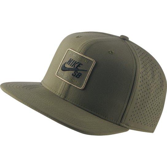 5cf06c86f7d8a Boné Nike Arobill Pro Cap 2.0 Aba Reta - Verde Militar - Compre ...