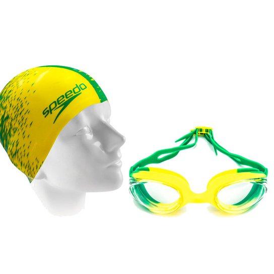 45472018a Kit Natação Óculos Hydrovision Brasil e Touca - Compre Agora