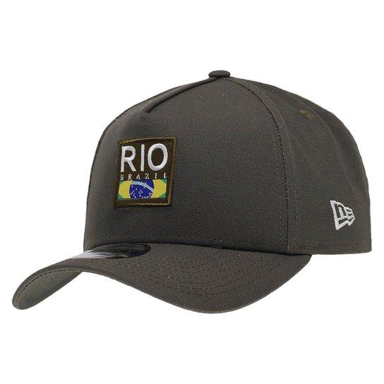 5b2449c109207 Boné New Era Aba Curva Sn Brand Af Cities Rio De Janeiro - Verde Militar