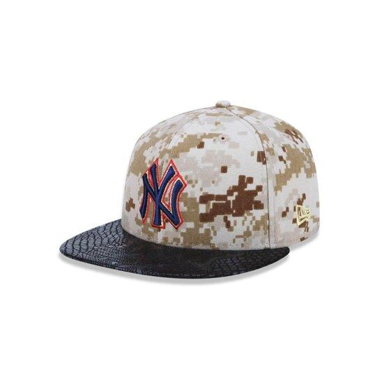 4d1cc780af46c Bone 5950 New York Yankees MLB Aba Reta Militar New Era - Verde Militar