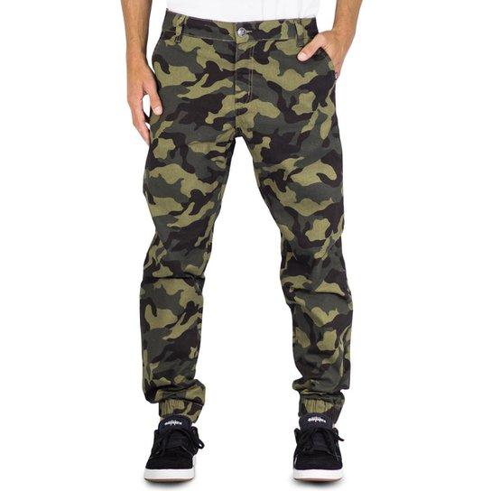 Calça Prime Sarja Jogger Camuflada - Verde Militar - Compre Agora ... cc7fca08c9a