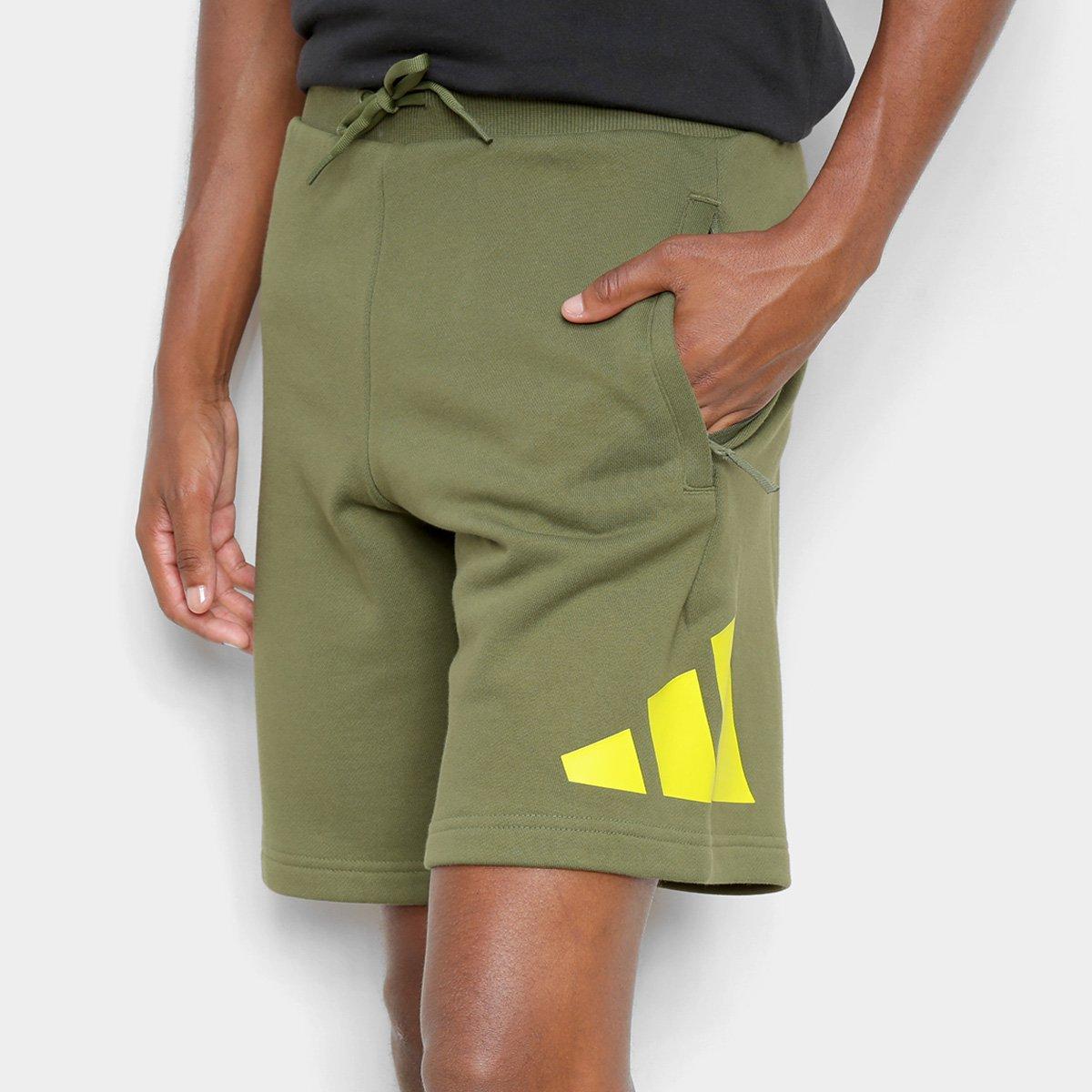 Short Adidas Moletom Logo Masculino