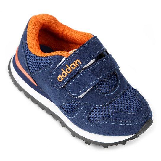7f5e820f38ea5 Tênis Infantil Addan Velcro - Azul e Laranja - Compre Agora   Netshoes