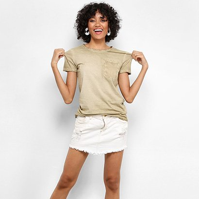 Camiseta Drezzup Estonada Bolso Feminina