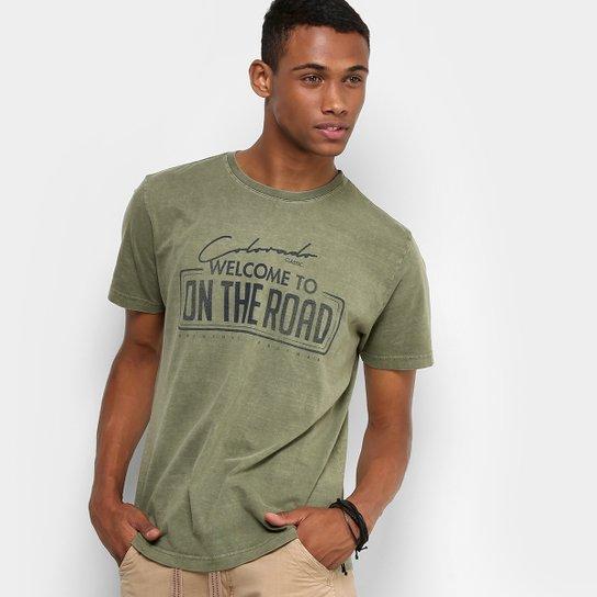 Camiseta Drezzup Estonada Estampada Masculina - Verde Militar ... 70250ab5b736f