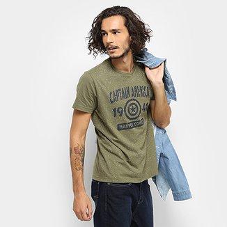 Camiseta Drezzup Marvel Capitão América Masculina f2dee68d0c4c7
