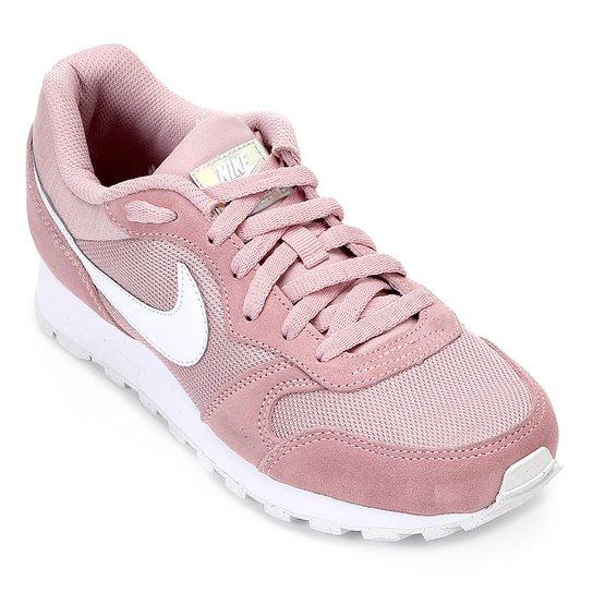 2261c8a7b Tênis Nike Md Runner 2 Feminino - Rosa e Branco - Compre Agora ...