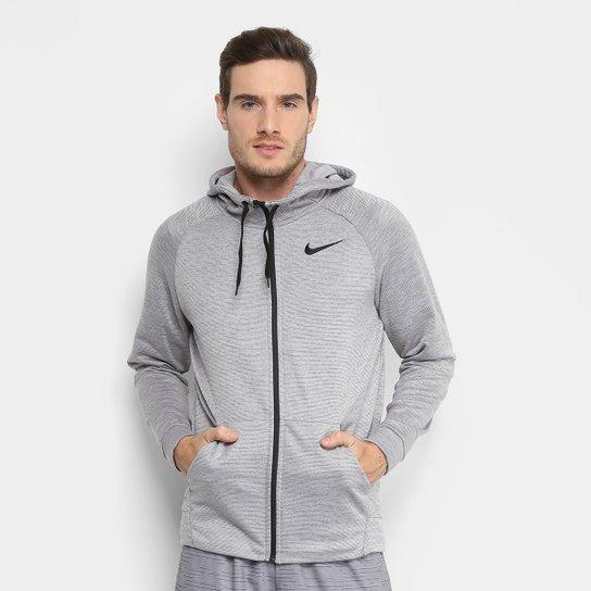 94ec6943c03 Jaqueta Nike Dry Hoodie Fz Fleece Masculina - Preto e Chumbo ...
