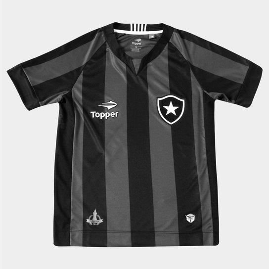 Camisa Topper Botafogo II 2016 s nº Infantil - Compre Agora  3cdec50ae4355