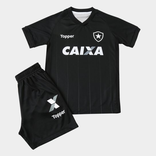 f6d5adaee21e8 Kit Botafogo Infantil II 2018 Topper - Preto e Chumbo - Compre Agora ...