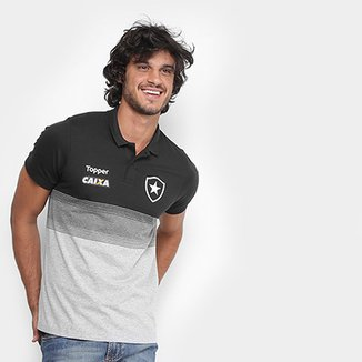 Camisa Polo Botafogo Viagem Topper Masculina fa9d41e10eae5
