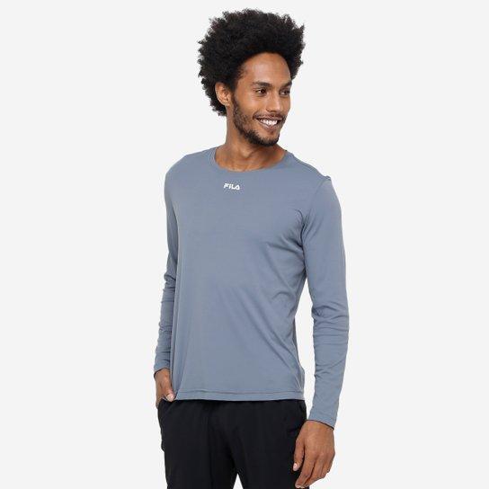 Camiseta Fila Basic Com Proteção UV Manga Longa Masculina - Compre ... 02aceeb59b18c