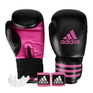 dcfe541fd2 Kit Luva de Boxe Muay Thay Adidas Power 100 + Bandagem 2