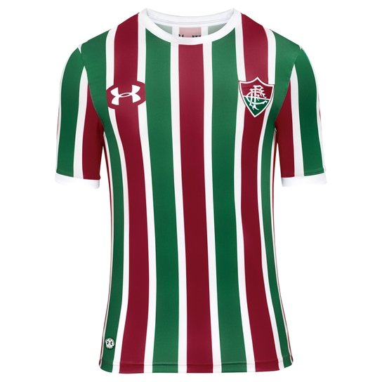 Camisa Fluminense Under Armour Oficial 1 13189954 - Vinho e Branco ... 8421140bcda85