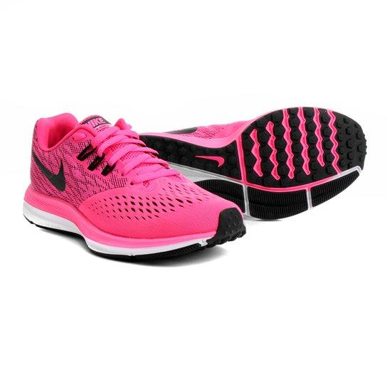 3ce05700bd Tênis Nike Zoom Winflo 4 Feminino - Rosa e Preto - Compre Agora ...